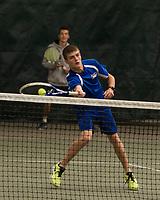 Gilford varsity tennis semi final round against Kearsarge at Gilford Hills Club.  Karen Bobotas for the Laconia Daily Sun