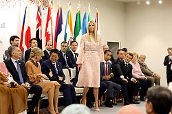 "Mauricio Macri (Argentina's President), Queen Maxima of the Netherlands, Shinzo Abe (Japanese Prime Minister), Ivanka Trump (Advisor to the President of the United States), Donald J. Trump (US President), Joko Widodo (Indonesia's President), Emmanuel Macron (French President), Jair Bolsonaro (Brazil's President), Angela Merkel (German Chancellor), Narendra Modi (India's Prime Minister) - Side event organized by the Japanese Prime Minister, on the theme ""Promoting the place of women at work"" at the Intex Osaka congress center at the G20 summit in Osaka, Japan, on June 29, 2019. Photo by Dominque Jacovides/Pool/ABACAPRESS.COM"