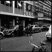 E.S.B. window smashed, Fleet Street, Dublin..25.08.1961
