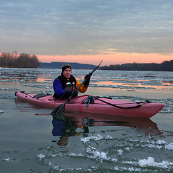 Paddling the Ice Floes on the Potomac