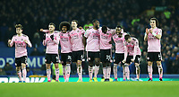 Football - 2019 / 2020 EFL Carabao (League) Cup - Quarter-Final: Everton vs. Leicester City<br /> <br /> Leicester City players celebrate during the  penalty shootout at Goodison Park.<br /> <br /> COLORSPORT/LYNNE CAMERON