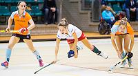 ROTTERDAM - Zaalhockey competitie hoofdklasse . GRONINGEN-MOP . Rosalie de Beer van MOP. COPYRIGHT KOEN SUYK