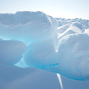 Ice formations stacked up on the ice pack of the Beaufort Sea. Kaktovik, Alaska.