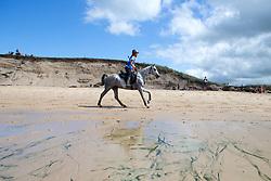 Elisa Arnould, (BEL), Shetan Al Ondrel Ewaldraid<br /> Endurance - Alltech FEI World Equestrian Games™ 2014 - Normandy, France.<br /> © Hippo Foto Team - Leanjo De Koster