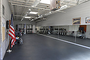 San Diego, California. USA. Exercise room,  Boathouse, Lower Otay Reservoir,  rowing training course, Olympic Committee's ARCO Training Center in Chula Vista California.   10:20:39   Thursday  11/04/2013  [Mandatory Credit. Peter Spurrier/Intersport Images] ..