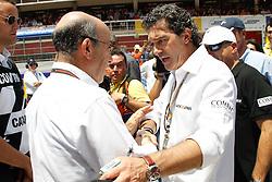 04.07.2010, Montmelo, Barcelona, ESP, MotoGP, Grand Prix von Katalonien im Bild Antonio Banderas and C. Ezpeleta, EXPA Pictures © 2010, PhotoCredit: EXPA/ InsideFoto/ Semedia *** ATTENTION *** FOR AUSTRIA AND SLOVENIA USE ONLY! / SPORTIDA PHOTO AGENCY