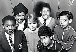 Group of secondary school pupils UK 1998