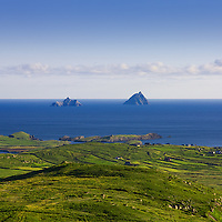 Skellig Islands seen from Geokaun Mountain on a fine, fine day in County Kerry, Ireland ****** <br /> <br /> Visit & browse through my Photography & Art Gallery, located on the Wild Atlantic Way & Skellig Ring between Waterville and Ballinskelligs (Skellig Coast R567), only 3 minutes from the main Ring of Kerry road.<br /> https://goo.gl/maps/syg6bd3KQtw<br /> <br /> ******<br /> <br /> Contact: 085 7803273 from an Irish mobile phone or +353 85 7803273 from an international mobile phone