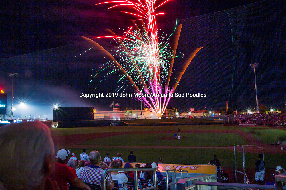 The Amarillo Sod Poodles played against the Corpus Christi Hooks on Thursday, July 4, 2019, at HODGETOWN in Amarillo, Texas. [Photo by John Moore/Amarillo Sod Poodles]