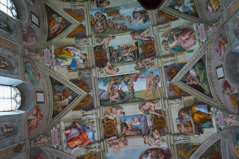 The Sistine Chapel ceiling painted by Michelangelo between 1508 and 1512, is a cornerstone work of High Renaissance art.