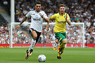 Fulham Defender Ryan Fredericks (L) in action. EFL Skybet football league championship match, Fulham  v Norwich city at Craven Cottage in London on Saturday 5th August 2017.<br /> pic by Steffan Bowen, Andrew Orchard sports photography.