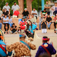 080615  Adron Gardner/Independent<br /> <br /> The Zuni White Eagle dance troupe perform at the McKinley County Courthouse in Gallup Thursday.