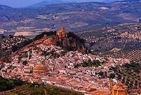 High angle view of the hill top town of Montefrio, Granada Province, Andalusia, Spain. Montefrio was called one of the top ten towns with the best views in the world by National Geographic.