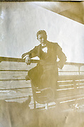 young adult male person on a passenger ship, 1915