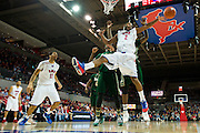 DALLAS, TX - JANUARY 15: Shawn Williams #2 of the SMU Mustangs reaches for a lose ball against the South Florida Bulls on January 15, 2014 at Moody Coliseum in Dallas, Texas.  (Photo by Cooper Neill/Getty Images) *** Local Caption *** Shawn Williams