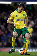 Christoph Zimmermann of Norwich City in action. The Emirates FA Cup, 3rd round replay match, Chelsea v Norwich City at Stamford Bridge in London on Wednesday 17th January 2018.<br /> pic by Steffan Bowen, Andrew Orchard sports photography.