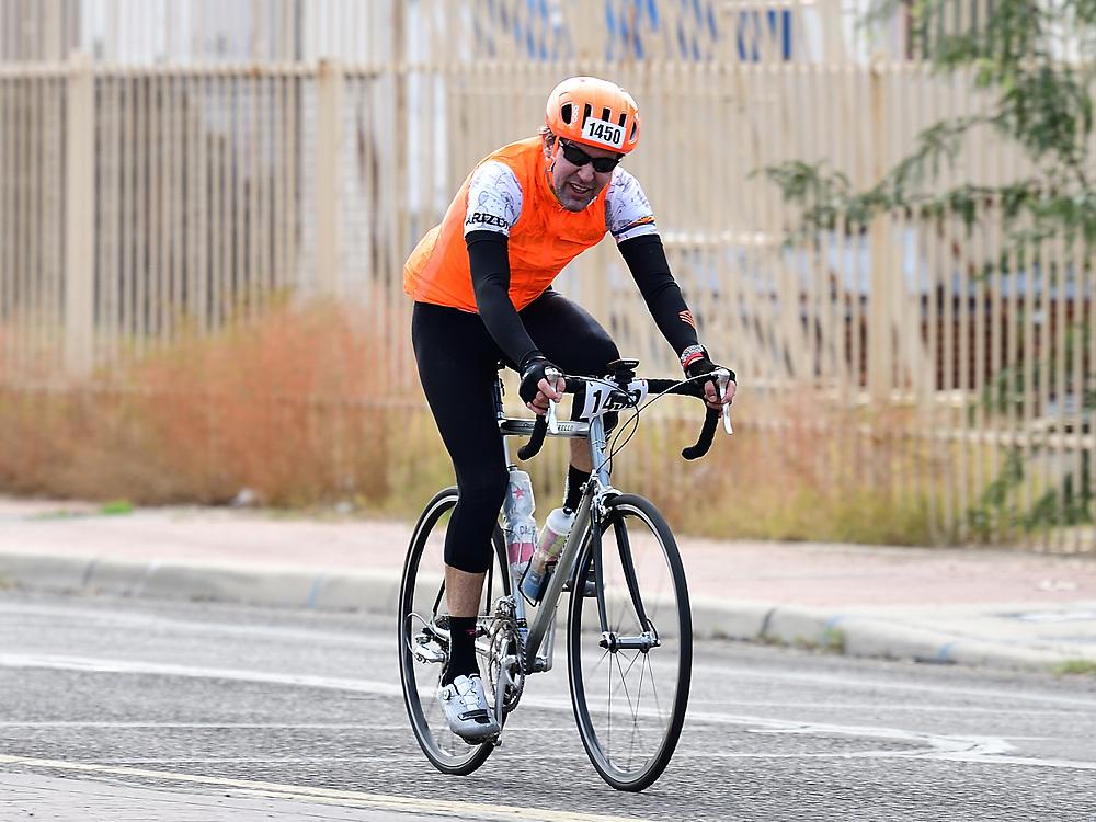El Tour de Tucson 2019 finisher on 6th Avenue. Bike-tography by Martha Retallick.