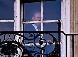 """© Licensed to London News Pictures. 07/05/2021. London, UK. Labour Leader Sir Keir Starmer is seen at the window of his office in Parliament,  Westminster the day after elections in England, Scotland and Wales. """"Super Thursday"""" saw council and Mayoral elections in England as well as votes in the National Assemblies of Holyrood in Scotland and Senedd in Wales. Photo credit: Ben Cawthra/LNP"""