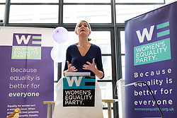 © Licensed to London News Pictures. 12/05/2017. LONDON, UK.  SOPHIE WALKER, the leader of the Women's Equality Party speaking at the launch of the party's general election manifesto at party headquarters in London.  Photo credit: Vickie Flores/LNP