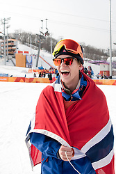 February 18, 2018 - Pyeongchang, SOUTH KOREA - 180218 ¯ystein BrÅ'ten of Norway, Gold, celebrate after the Men's Slopestyle Finale during day nine of the 2018 Winter Olympics on February 18, 2018 in Pyeongchang..Photo: Petter Arvidson / BILDBYRN / kod PA / 91979 (Credit Image: © Petter Arvidson/Bildbyran via ZUMA Press)