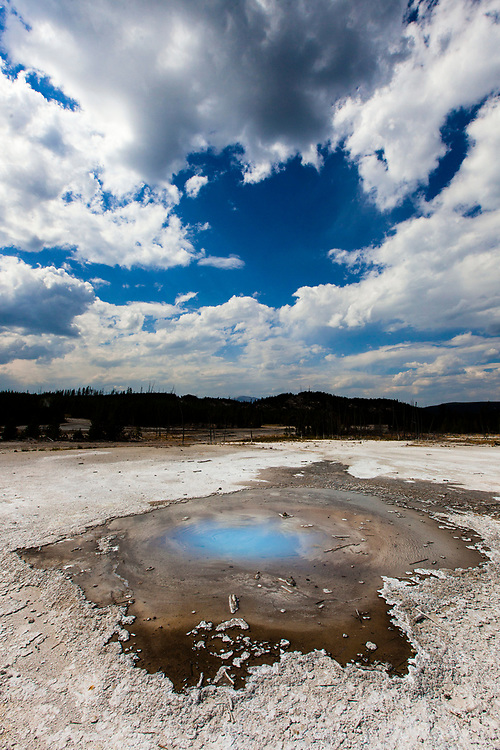 Pearl Geyser, Yellowstone National Park, Wyoming, United States