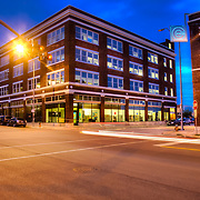 Exterior photos of the Kansas City office of Wallace Engineering at 18th & McGee Streets.