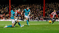 Brentford FC's Jota scores a goal during the Sky Bet Championship match between Brentford and Blackburn Rovers at Griffin Park, London 13/12/2014<br /> Picture by Mark D Fuller