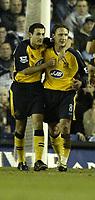 Photo: Aidan Ellis.<br /> Leeds United v Wigan Athletic. The FA Cup. 17/01/2006.<br /> Wigan's Johansson celebrates his goal with Skoko