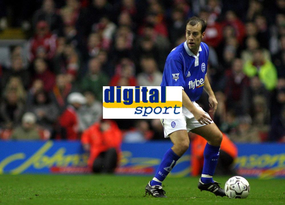 Fotball<br /> Premier League 30.11.2003<br /> Liverpool v Birmingham<br /> Jamie Clapham - Birmingham<br /> Foto: Morten Olsen, Digitalsport