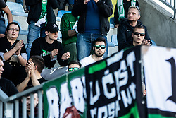 Fans of NK Olimpija during football match between NK Olimpija Ljubljana and NK Domžale in 24rd Round of Prva liga Telekom Slovenije 2018/19, on March 30, 2019 in Sports park Domzale, Slovenia Photo by Matic Ritonja / Sportida