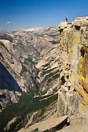Hikers on the summit of Half Dome, Yosemite National Park, California