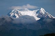 Ecuador, May 18 2010: View of summit of Antisana volcano from road near Wild Sumaco. Copyright 2010 Peter Horrell