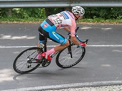 06.07.2015, Litschau, AUT, Österreich Radrundfahrt, 2. Etappe, Litschau nach Grieskirchen, im Bild Matthias Krizek (AUT, Bester Österreicher) // Best Austrian rider Matthias Krizek of Austria during the Tour of Austria, 2nd Stage, from Litschau to Grieskirchens, Litschau, Austria on 2015/07/06. EXPA Pictures © 2015, PhotoCredit: EXPA/ Reinhard Eisenbauer