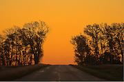 COuntry road at dawn<br /> Swift Current<br /> Saskatchewan<br /> Canada