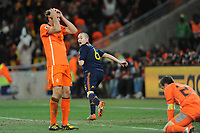FOOTBALL - FIFA WORLD CUP 2010 - FINAL - NETHERLANDS v SPAIN - 11/07/2010 - PHOTO FRANCK FAUGERE / DPPI - JOY ANDRES INIESTA (SPA) AFTER HIS GOAL