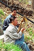 Mariachi musician age 25 playing at Cinco de Mayo festival.  St Paul Minnesota USA