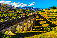 A Roman Aqueduct, Almunecar, Costa Tropical, Granada Province, Andalusia, Spain. The channel where the water flowed has been covered over by concrete.
