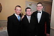 Joe Ward, Ballinasloe, Keenan Cunningham, Tuam, Matthew Dalton , Tuam  at the  Ability West,  second annual Best Buddies ball, 2010 in the Galway Bay Hotel, Salthill Galway. Photo:Andrew Downes.