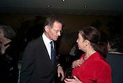SIR NICHOLAS SEROTA; SUSAN HILLER Susan Hiller opening, Tate Britain. 31 January 2010. -DO NOT ARCHIVE-© Copyright Photograph by Dafydd Jones. 248 Clapham Rd. London SW9 0PZ. Tel 0207 820 0771. www.dafjones.com.