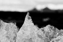 Melting Ice cubes at the beach, Breidamerkursandur, Iceland - Bráðnandi ís í fjöru á Breiðamerkursandi