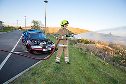 Bonny Mealand. News feature on the nearly all-female firefighting crew based at the Fire Shed, Lochaline, on the Morvern Peninsula.