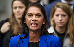 © Licensed to London News Pictures. 24/09/2019. London, UK. Businesswoman GINA MILLER is seen speaking to media as she leaves The Supreme Court in London following a ruling on an appeal against a judicial review of Boris Johnson's suspension of Parliament. The case has been brought by remain campaigner Gina Miller, with support from former British Prime Minister John Major. Photo credit: Ben Cawthra/LNP