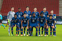 PIRAEUS, GREECE - DECEMBER 09: FC Porto team prior to the UEFA Champions League Group C stage match between Olympiacos FC and FC Porto at Karaiskakis Stadium on December 9, 2020 in Piraeus, Greece. (Photo by MB Media)