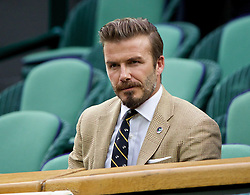 28.06.2014, All England Lawn Tennis Club, London, ENG, WTA Tour, Wimbledon, im Bild David Beckham in the Royal Box during day six // 15065000 during the Wimbledon Championships at the All England Lawn Tennis Club in London, Great Britain on 2014/06/28. EXPA Pictures © 2014, PhotoCredit: EXPA/ Propagandaphoto/ David Rawcliffe<br /> <br /> *****ATTENTION - OUT of ENG, GBR*****