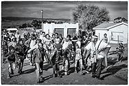 07-11-2017 Foto's genomen tijdens een persreis naar Buffalo City, een gemeente binnen de Zuid-Afrikaanse provincie Oost-Kaap. Mlakalaka - Kinderen zingen en dansen