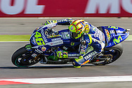 V.Rossi / Italy / Movistar Yamaha Moto GP / Yamaha during the Octo British Grand Prix at Silverstone, Towcester, United Kingdom on 28 August 2015. Photo by Craig McAllister.