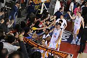 DESCRIZIONE : Roma Lega A 2014-15 Acea Roma Giorgio Tesi Group Pistoia<br /> GIOCATORE : Acea Roma<br /> CATEGORIA : postgame post game esultanza<br /> SQUADRA : Acea Roma<br /> EVENTO : Campionato Lega A 2014-2015<br /> GARA : Acea Roma Giorgio Tesi Group Pistoia<br /> DATA : 22/03/2015<br /> SPORT : Pallacanestro <br /> AUTORE : Agenzia Ciamillo-Castoria/G.Masi<br /> Galleria : Lega Basket A 2014-2015<br /> Fotonotizia : Roma Lega A 2014-15 Acea Roma Giorgio Tesi Group Pistoia