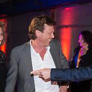 NLD/Amsterdam/20140303 - Uitreiking TV Beelden 2014, John de Mol en partner Els Verkerk in gesprek met Erland Galjaard