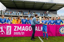 Team of ZNK Pomurje recieving their trophy after football match between ZNK Pomurje and ZNK Olimpija in 21st Round of Slovenska zenska nogometna liga 2020/21, on 22 of May, 2021 in TSC Trate, Gornja Radgona, Slovenia. Photo by Blaž Weindorfer / Sportida