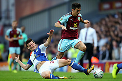 Marcus Antonsson of Blackburn Rovers tackles Jack Cork of Burnley  - Mandatory by-line: Matt McNulty/JMP - 23/08/2017 - FOOTBALL - Ewood Park - Blackburn, England - Blackburn Rovers v Burnley - Carabao Cup - Second Round